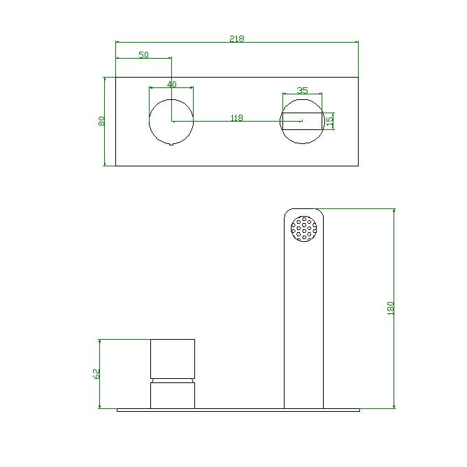 Unterputz Armatur Badarmatur Wandarmatur 9908G - Farbe Gunmetal - inkl. Unterputz-Grundkörper – Bild 10