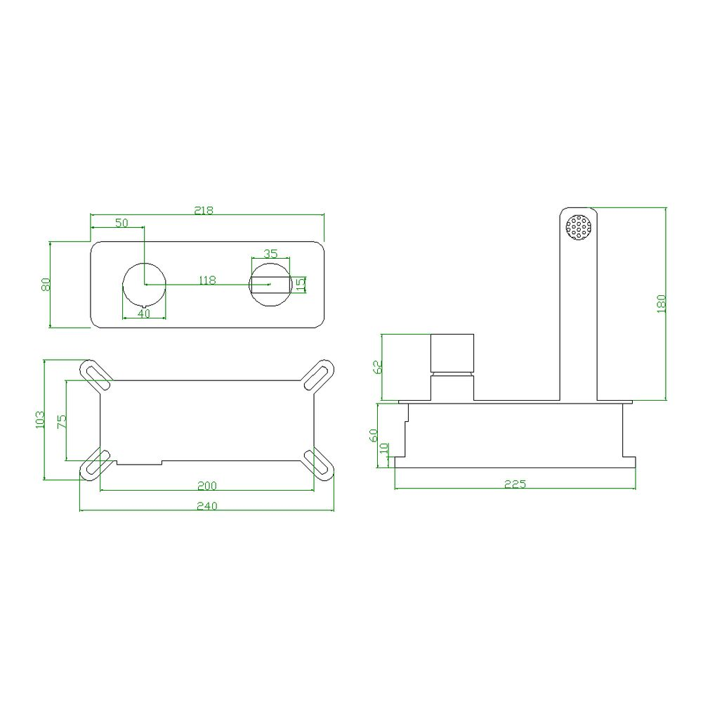 Gunmetal Grey Wall Mounted Basin Mixer Tap 9908G - With Concealed Body – Bild 11