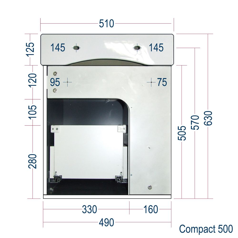 Badmöbel-Set Compact 500 für Gäste-WC - Eiche-Optik – Bild 8