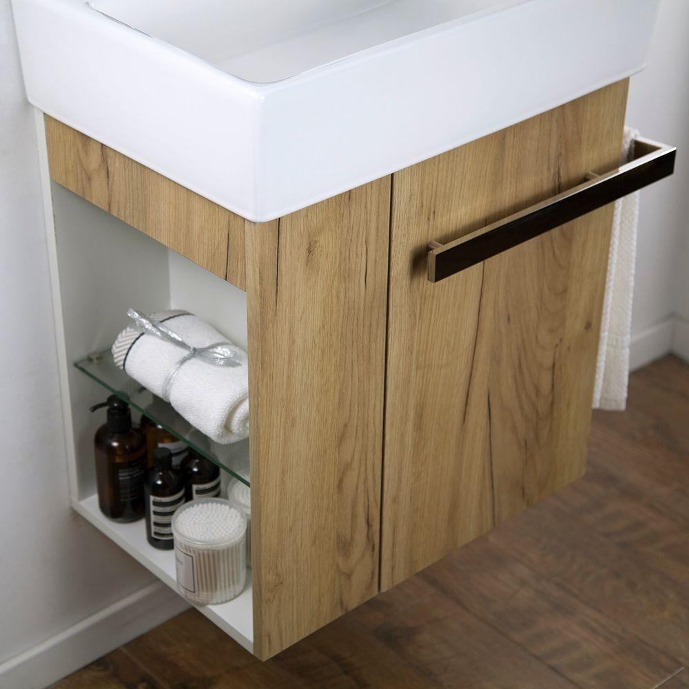 Badmöbel-Set Compact 500 für Gäste-WC - Eiche-Optik – Bild 3