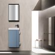 Vanity Unit with Toilet Brush and Toilet Paper Holder - Compact 400 - Matt Pigeon Blue