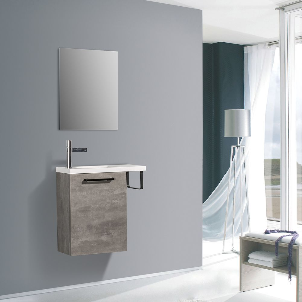 Bathroom Furniture Set TABLO 400 - available in different colours - optional mirror cabinet – Bild 3