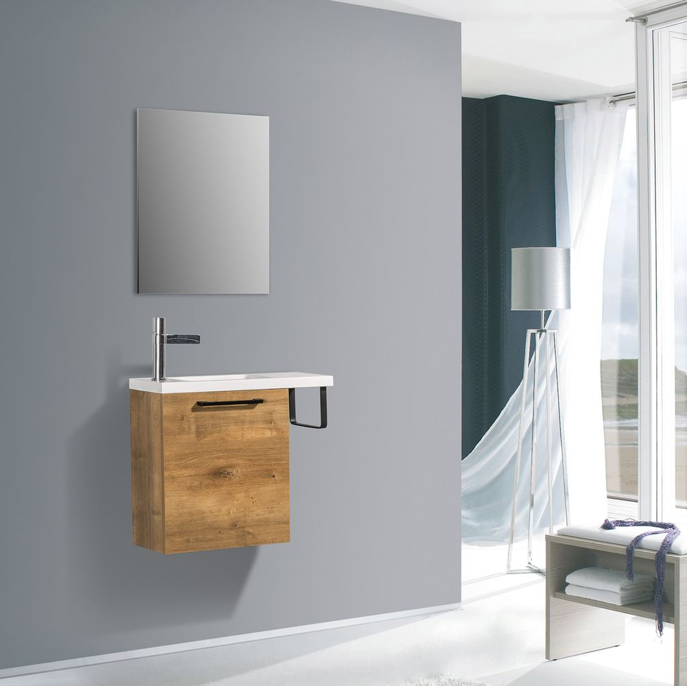 Bathroom Furniture Set TABLO 400 - available in different colours - optional mirror cabinet – Bild 5