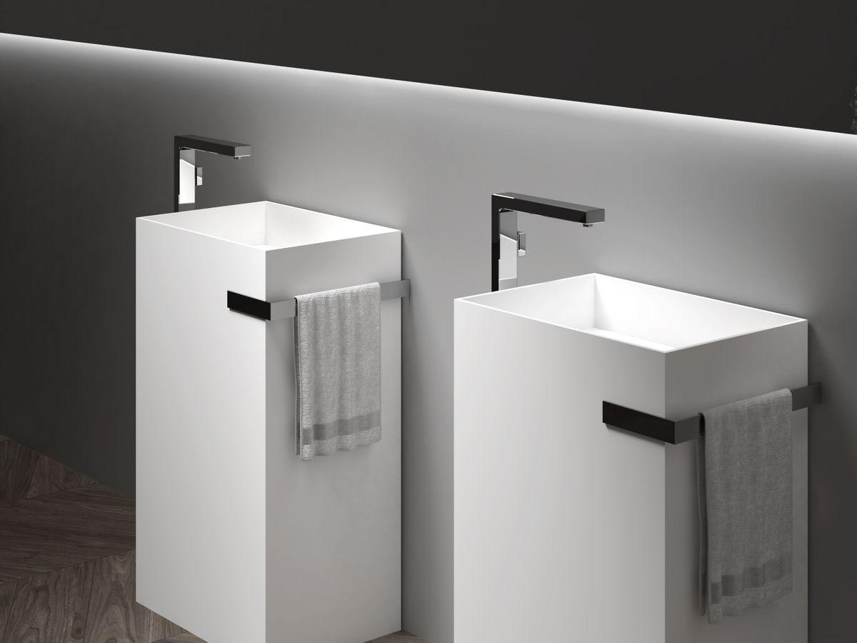 Standwaschbecken aus Mineralguss TWZ312 - 50 x 35 x 85 cm - Farbe wählbar – Bild 5