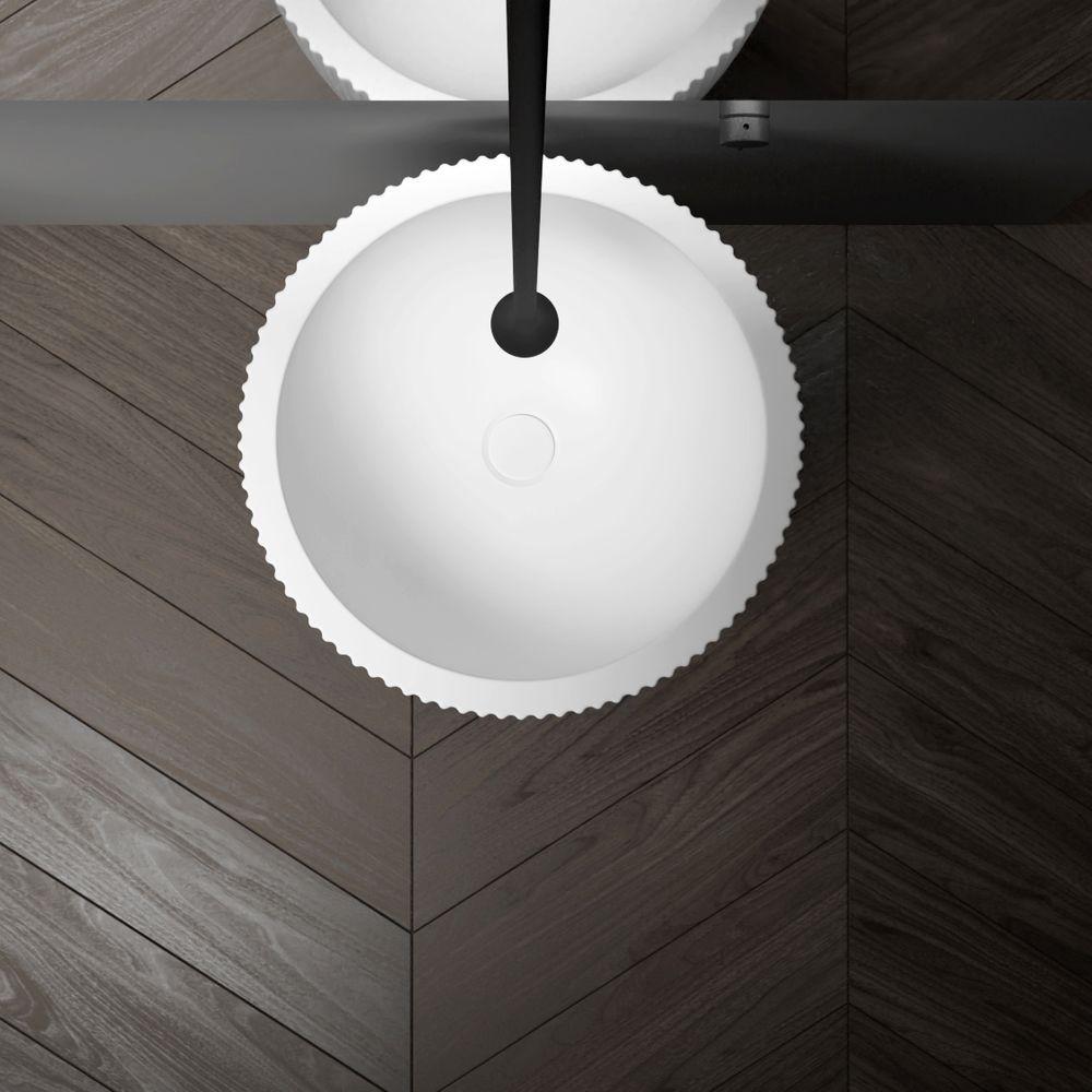 Standwaschbecken aus Mineralguss TWZ316 - 50 x 50 x 90 cm - Farbe wählbar – Bild 7