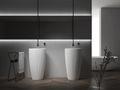 Standwaschbecken aus Mineralguss TWZ316 - 50 x 50 x 90 cm - Farbe wählbar 001