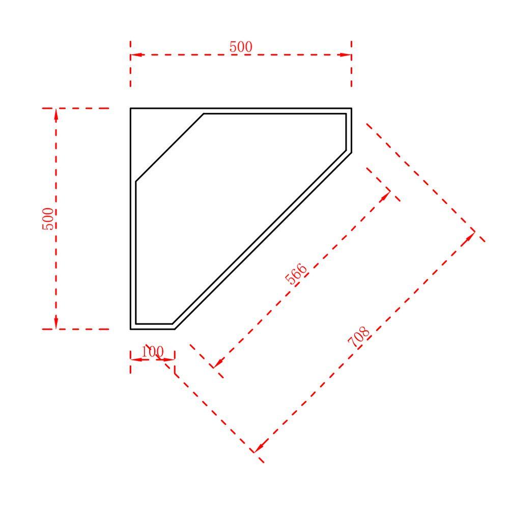 Standwaschbecken aus Mineralguss TWZ70 - Eckwaschbecken Weiß matt - 50 x 50 x 90 cm – Bild 3