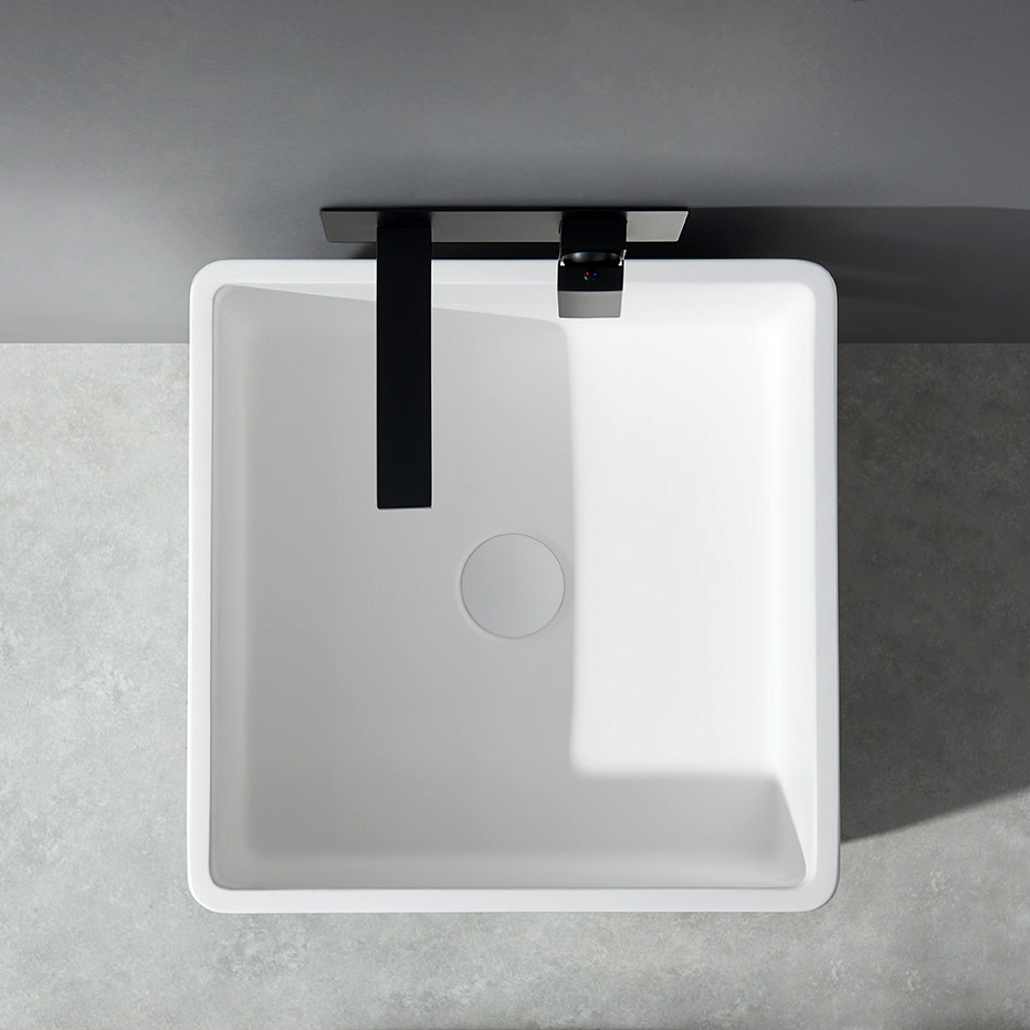 Freestanding Bathroom Basin BA31 - Solid Stone - 50 x 50 x 82 cm - available in different colours – Bild 8