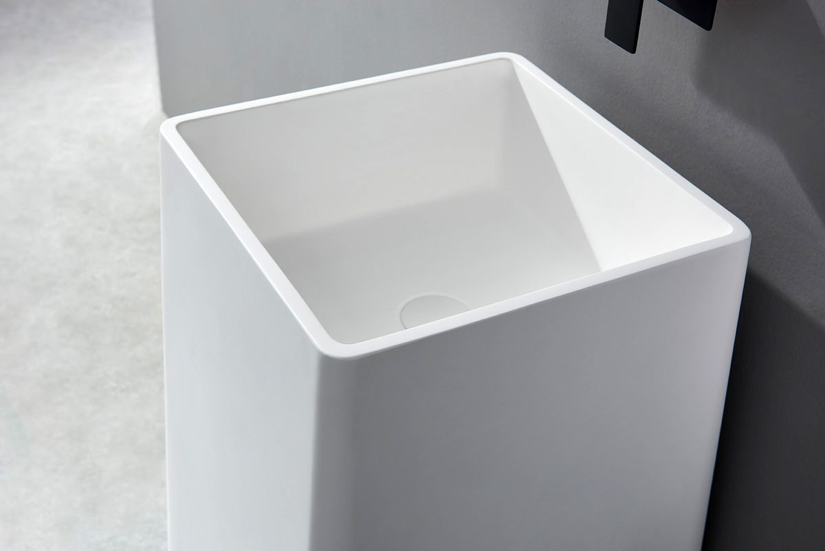 Freestanding Bathroom Basin BA31 - Solid Stone - 50 x 50 x 82 cm - available in different colours – Bild 7