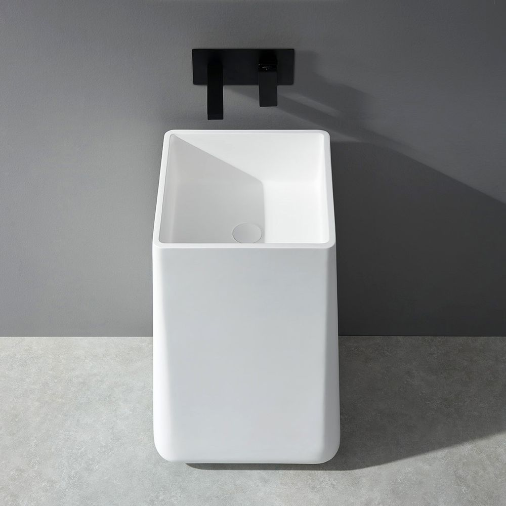 Freestanding Bathroom Basin BA31 - Solid Stone - 50 x 50 x 82 cm - available in different colours – Bild 6