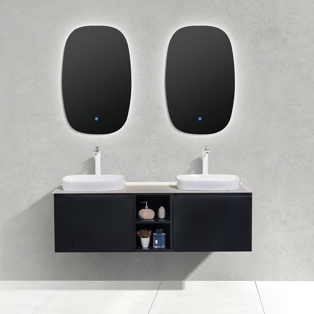 Bathroom Furniture Set INALCO 1500 - black powder coated  - mirror optional – Bild 2