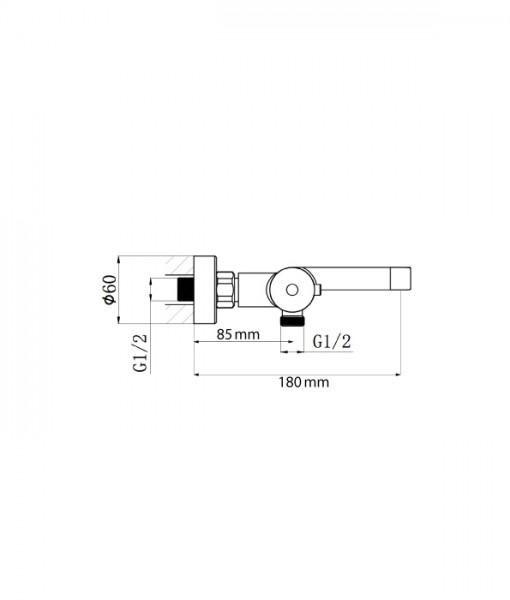 BERNSTEIN Wall Mounted Thermostatic Bath Shower Mixer Tap 4051 - optional Shower Rail, Shower Hose and Hand Shower  – Bild 3