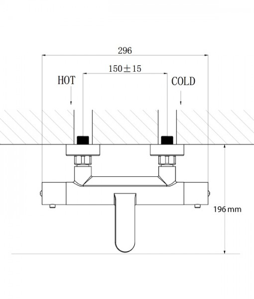 Wannenarmatur Wandmischbatterie 4051 mit Thermostatventil - Duschstange, Duschschlauch, Handbrause optional – Bild 4