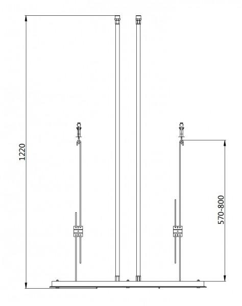 BERNSTEIN Unterputz-Duscharmatur-Set mit Thermostat NT7177, Deckeneinbau-Regendusche & Handbrause – Bild 8