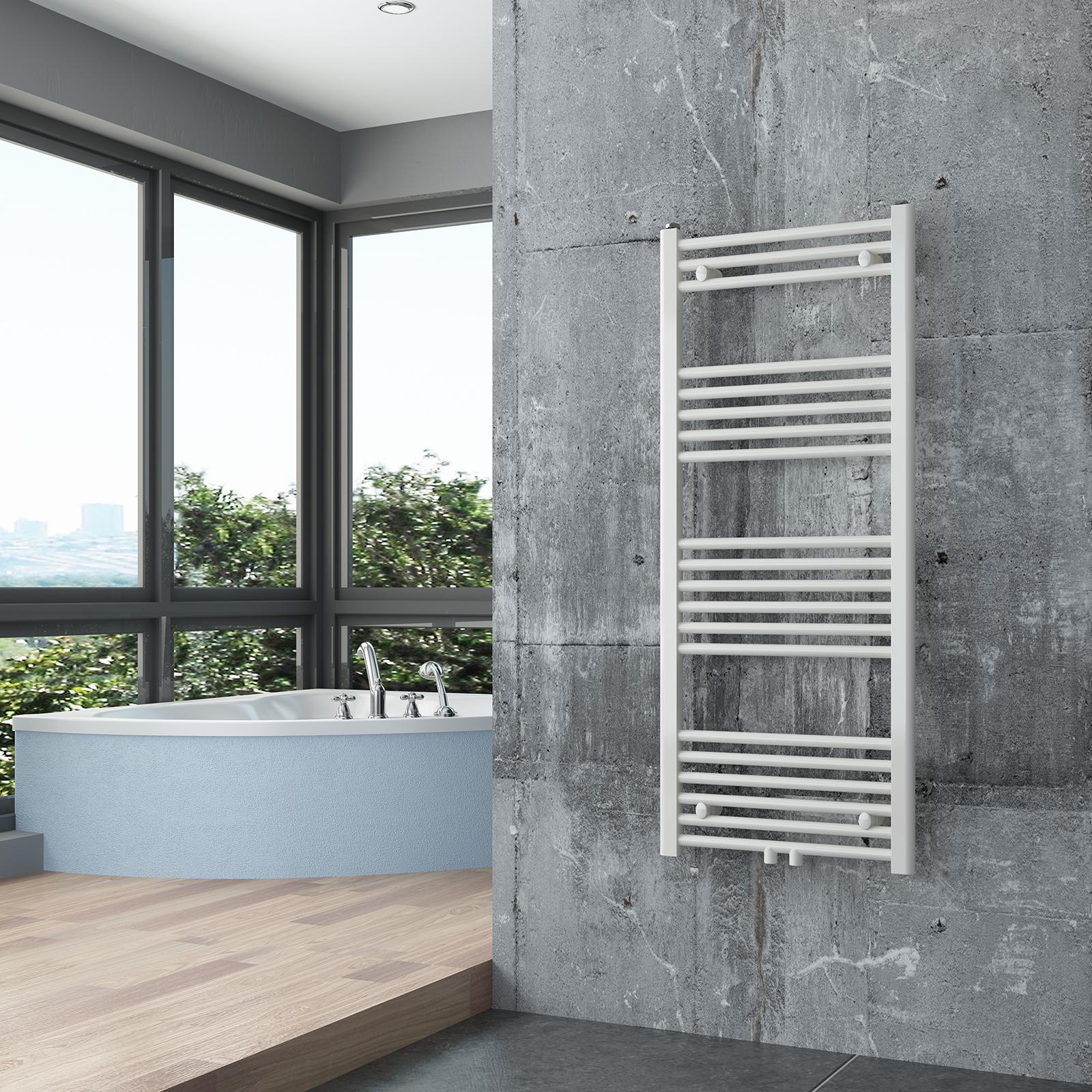 BERNSTEIN Badheizkörper Handtuchwärmer R18W Weiß gerade - Größe wählbar