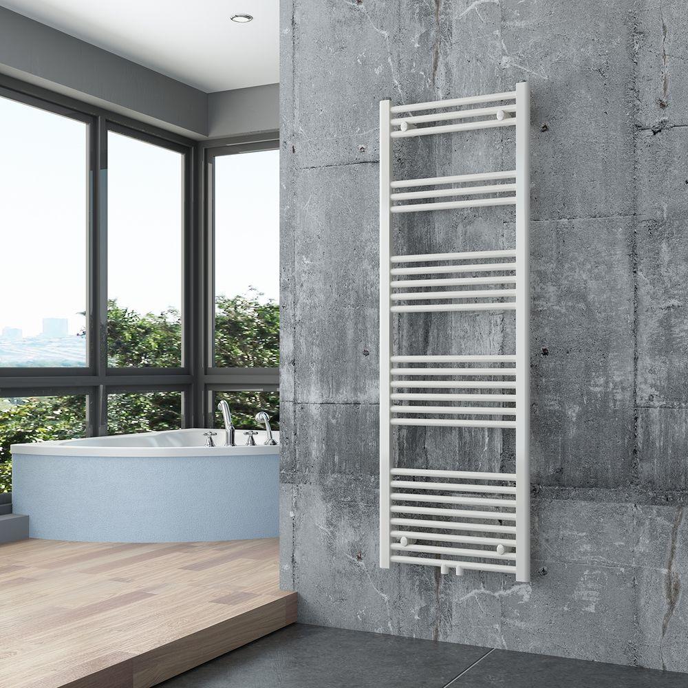 BERNSTEIN Badheizkörper Handtuchwärmer R18W Weiß gerade - Größe wählbar – Bild 5