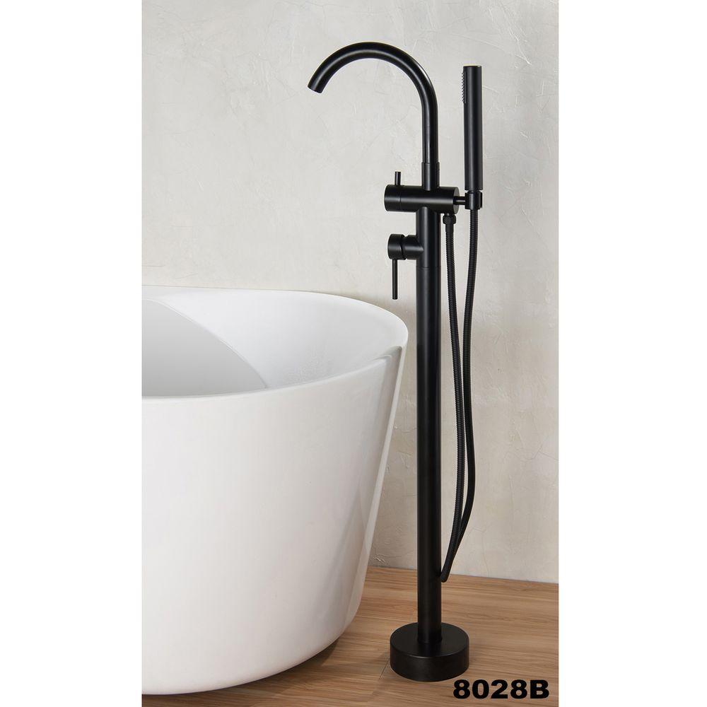 Freestanding Bathtub LEO - Sanitary Acrylic - Glossy White - 175 x 100 x 58 cm - optional taps – Bild 13