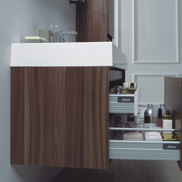 Bathroom Furniture complete set A1000  - dark walnut - with side cabinet – Bild 3