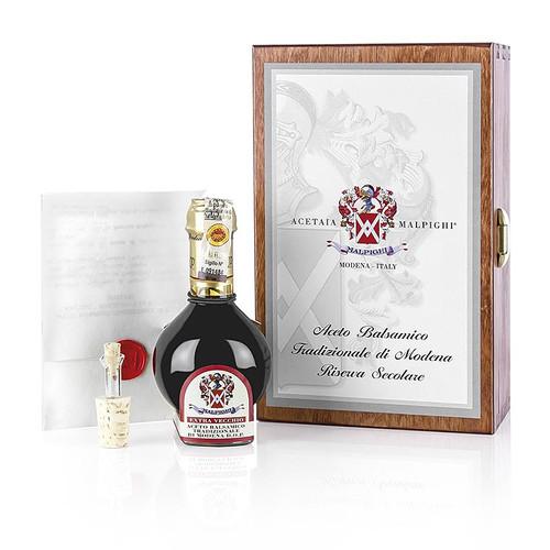 Aceto Balsamico Tradizionale DOP Riserva Secolare,100 Jahre,Geschenkbox,Malpighi, 100 ml