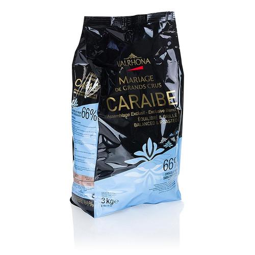 Pur Caraibe  Grand Cru , dunkle Couverture als Callets, 66% Kakao, 3 kg