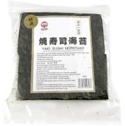 Yakinori halbe Größe, getrocknete Algenblätter, geröstet, Gold, 100 Blatt