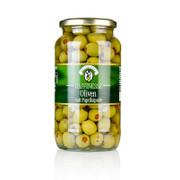 Grüne Oliven, mit Paprikapaste, in Lake, Raffinesse, 935g