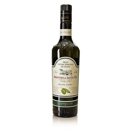 Olivenöl Santa Tea Gonnelli, Fruttato Intenso, Olio Extra Vergine, grüne Oliven, 750 ml