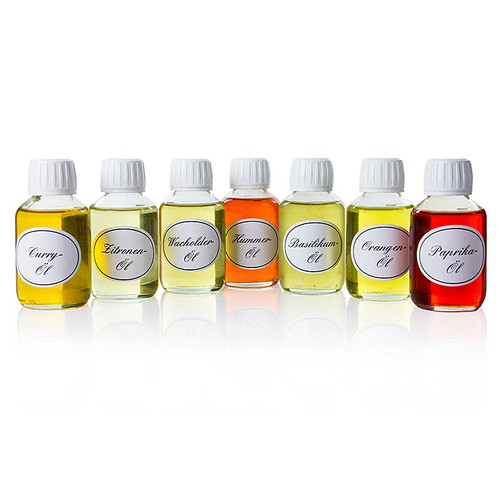 lsortiment: Basilikum, Curry, Orange, Paprika, Wacholder, Zitrone, Hummer, 700 ml, 7 x100ml