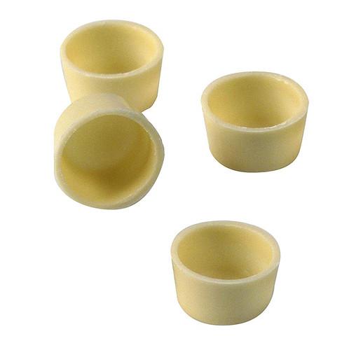 Pralinen-Schalen, rund, weiße Schokolade, ø 25/29mm, 16mm hoch, 1,848 kg, 616 St