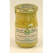 Dijon Senf mit Basilikum, fein, Fallot, 190 ml
