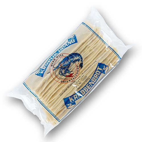 Kroepoek mit Garnelen, ungebacken, gross, aus Indonesien, 500g