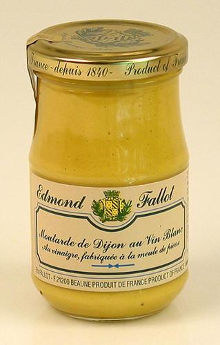Dijon Senf mit Weißwein, fein und mittelscharf, Fallot, 190 ml