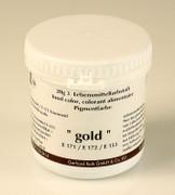 Lebensmittelfarbe-Spezial, Gold-Pulver, nicht wasserlöslich, von Ruth, 20g