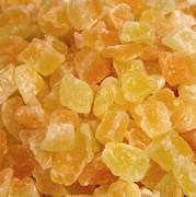 cantaloupe, hakkede, svovlbehandlede, sødet, 1 kg