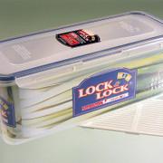 Frischebox Lock & Lock, 2,0 l, rechteckig 279x116x102mm, mit Ablaufgitter, 1 St
