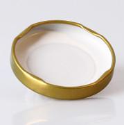 Golddeckel für Sechseckglas, 48mm, 110 ml, 1 St