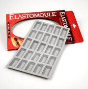 deBUYER Backform Elastomoule, 25 Mini-Finanzier, à 2,6x4,9x1,1cm, 20x30cm, 1 St