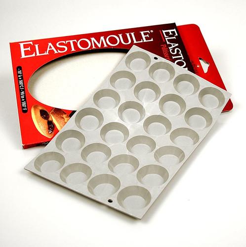 deBUYER Backform Elastomoule, 24 Mini-Törtchen, ø 45mm, 11mm hoch, 19,5x30cm, 1 St