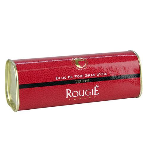 Gänseleberblock mit Stücken, 3% Trüffel, 95% Foie Gras, Trapez, Rougié, 310g