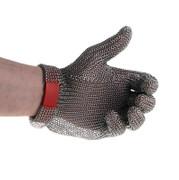 Austernhandschuh Euroflex - Kettenhandschuh, Größe M (2), rot, 1 St
