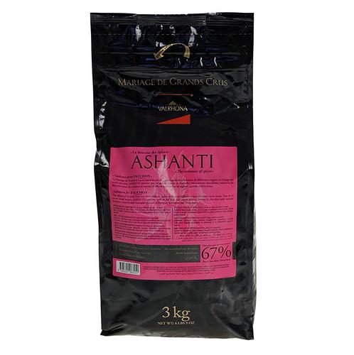 Ashanti  Grand Cru , dunkle Couverture Callets, 67% Kakao, 3 kg