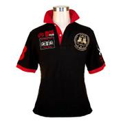 BOS FOOD EDITION Polo-Shirt La Guajiro, Kurzarm, schwarz/rot, Herren Gr. S, 1 St