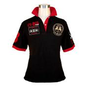 BOS FOOD EDITION Polo-Shirt La Guajiro, Kurzarm, schwarz/rot, Damen Gr. M, 1 St