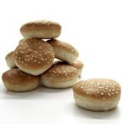 Mini-Hamburger Brötchen, ca. ø 5cm, TK, 4 kg, 180 St