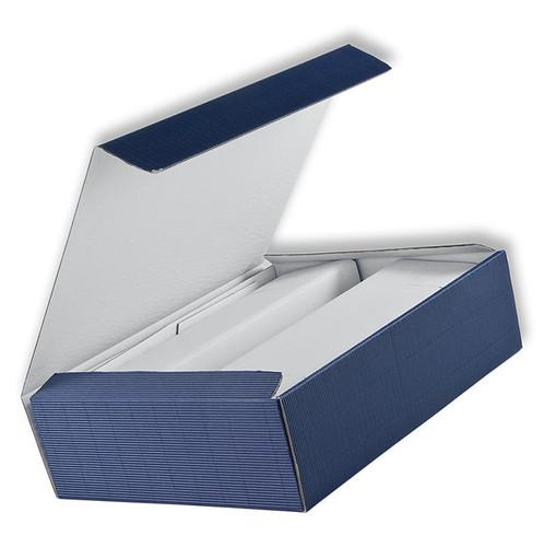 Weinpräsentkarton, seidenmatt blau, für 3 Flaschen à 0,75 l, 1 St