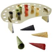 Mini-Hörnchen Basic, neutral, naturell,rot,grün,schwarz,ø 3cm,7cm lang, + Halter, 1,1 kg, 260 St