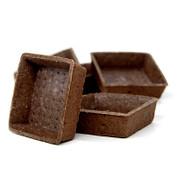 Dessert-Tartelettes, quadratisch, 7x7cm, 1,8cm hoch, Schokomürbeteig, 3,45 kg, 120 St