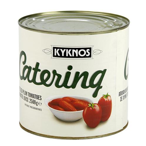 Geschälte Tomaten, ganz, von Kyknos/Griechenland, 2,5 kg