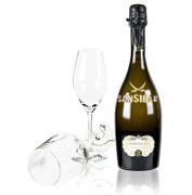 Sansibar´s Best San Simone Prosecco Brut 0,75 l + 2 Champagnergläser mit Logo, 3 tlg.
