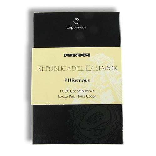 Coppeneur Tafel, Ecuador Cru de Cao, 100% Kakao, BIO, 50g